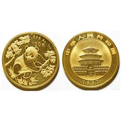 1992 One-Ounce Gold Panda Coin (CHINA)