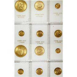 1915 Cuba Gold Coin Uncirculated Set