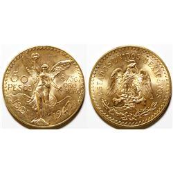50 Peso Mexican Gold coin