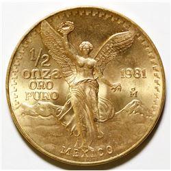 Half-Ounce Mexican Gold Onza Coin