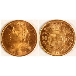 Gold Swiss 20 Franc