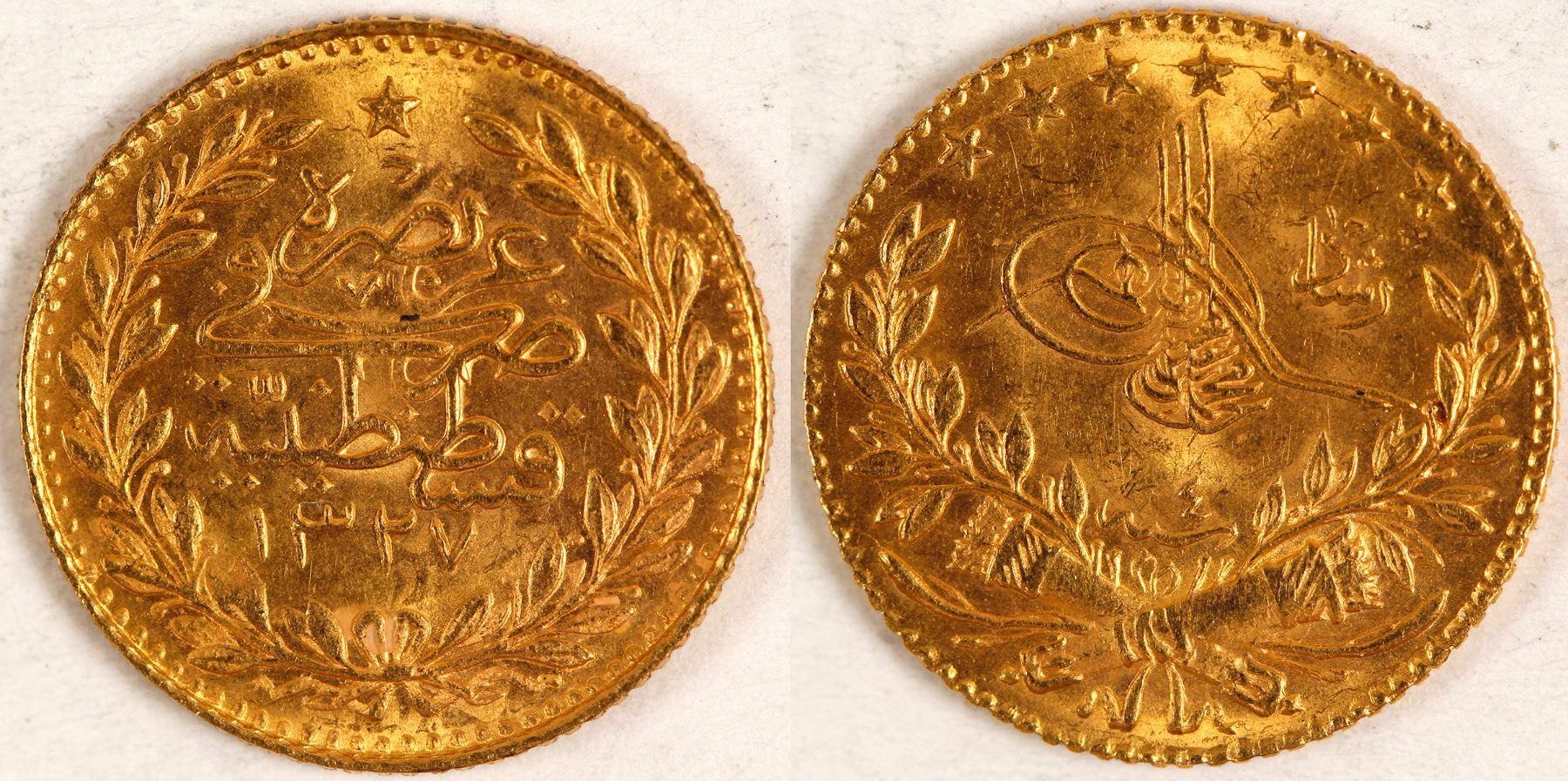 25 kurush gold coin