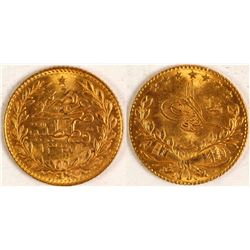 Turkish Gold Coin, 25 KURUSH