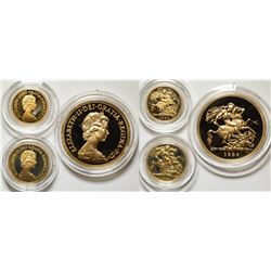 United Kingdom 1984 Gold Coin Proof Set