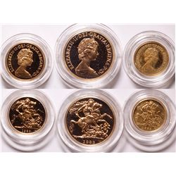 United Kingdom 1983 Gold Coin Proof Set