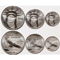 Platinum American Eagle Trio, 1998