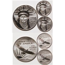 Three Platinum American Eagle Coins