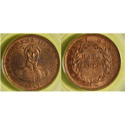 1847 Hawaiian Penny