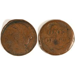 Large Cent Cutdown to Small Cent Size