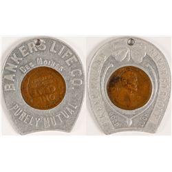 "Encased 1922 weak ""D"" Penny"