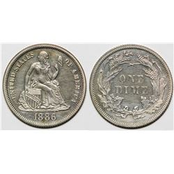1886 Seated Dime Proof