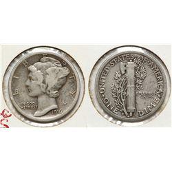 1916D Mercury Dime