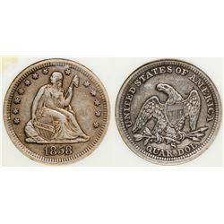 1858-S Liberty Seated Quarter
