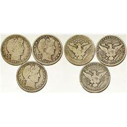 Three Liberty Head Half Dollars