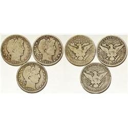 Three Liberty Head Half Dollars