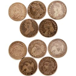Five Capped Bust Half Dollars