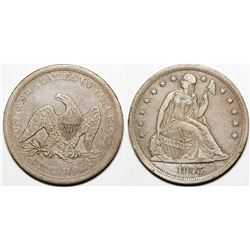 1843 Seated Dollar