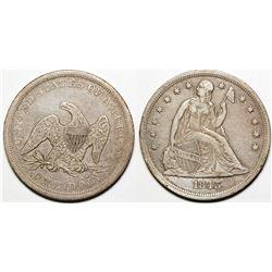 1843 Seated Dollar