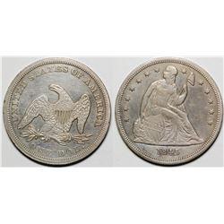 1845 Seated Dollar