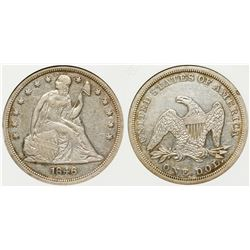1846 Seated Dollar
