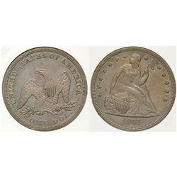 1847 Seated Dollar