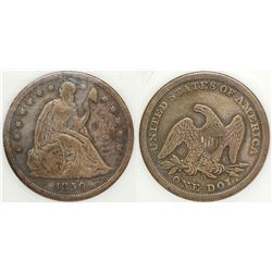 1850-O Seated Dollar