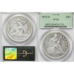 1872-S Seated Dollar