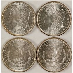 Two BU Morgan Dollars