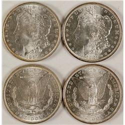Two BU Morgan Dollars
