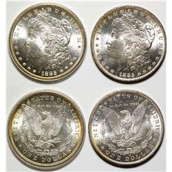 Two Gem Morgan Dollars