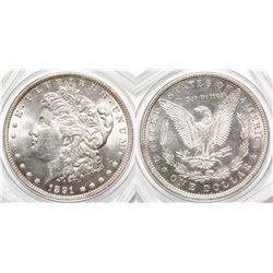 1891 Gem BU Morgan Dollar