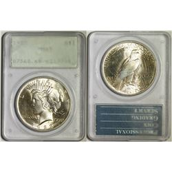 1923 Peace Dollar, MS 65