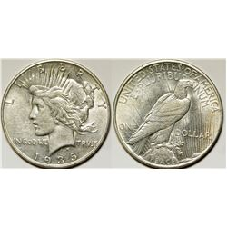 1935-S Peace Dollar, Gem BU