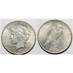 1935-S Peace Dollar, BU