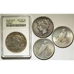 Four Peace Dollars