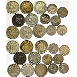 Three Cent Piece Collection