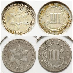 Three Cent Silver Pieces