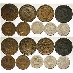 Mid 1800s U.S. Coins