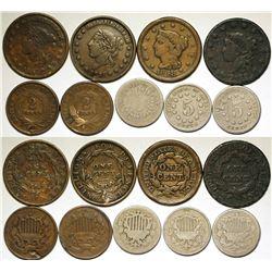 Mid 1800s U.S. Coins