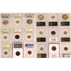 Nine PCGS Coins