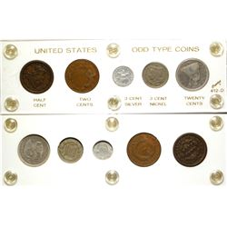 United States Odd Type Coins