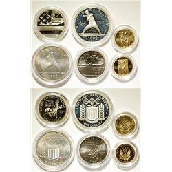 U.S. Mint 1992 Olympic Coins