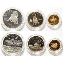 1995 US Civil War Battlefield 3-Coin Commemorative Proof Set in Photo Case
