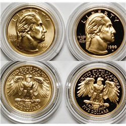 George Washington 1999 Bicentennial Proof and Uncirculated $5 Pair