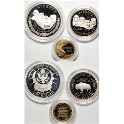 Mount Rushmore Commemorative Coin Proof Set
