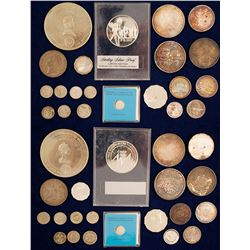 Silver Coins from Earth and Around the Moon