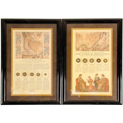 2 Framed Sets of Ancient Chinese and Silk Road Coins