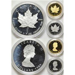 Canada Three Coin, Three Metal set