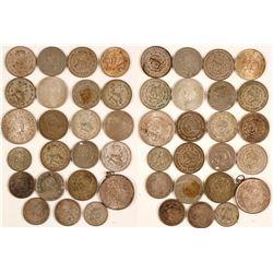 23 Mexican Silver Coins