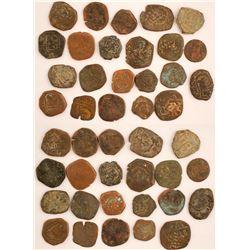 22 Spanish Coins, circa 1600's